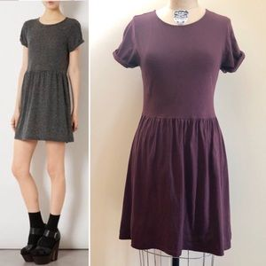 Topshop Speckle Rolled Sleeve Skater Dress